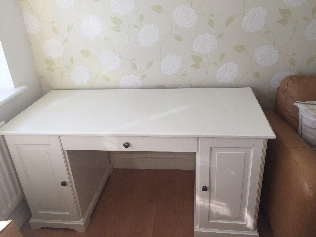 Ikea White Liatorp Desk Rrp 250 In Northampton