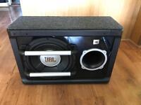 JBL subwoofer and KENWOOD amplifier