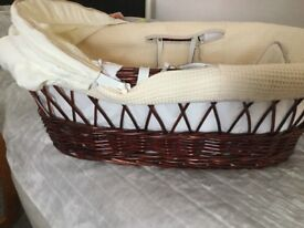 Baby whicker Moses basket including stand
