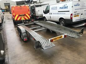 Brenderup Tilt Bed Twin Axle Galvanised Car Transporter Trailer FOR SALE