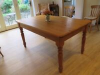 Pine dining/kitchen table