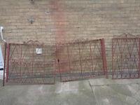 cast iron driveway and garden gates