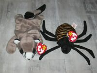 TY BEANIE BABIES SPINNER & RINGO , TAGS & PE PELLETS