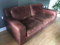 Brown Leather Sofa - 2 seater