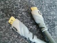 Monster hdmi cable,like new,gaming,movies,xbox one,ps4