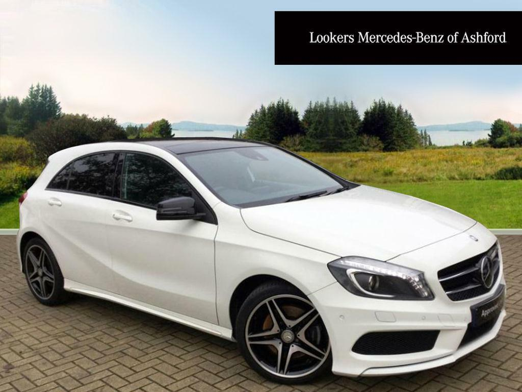 mercedes benz a class a250 blueefficiency amg sport white 2014 03 01 in ashford kent gumtree. Black Bedroom Furniture Sets. Home Design Ideas