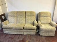 Fabric Parker knoll suite