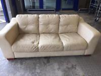 Leather 3 Seat Sofa. Birmingham Collection