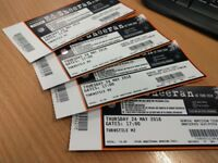 4 x Ed Sheeran Tickets for Thursday 24th May at The Etihad Manchester