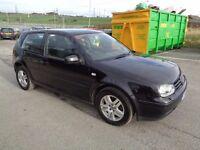 2002 VOLKSWAGEN GOLF 1.9 GT TDI 130 BHP 3 DOOR HATCHBACK BLACK 6 SPEED MANUAL DIESEL