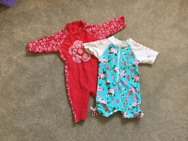 Girls UV swimsuits age 18-24 months