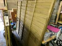 Two 6ft x 5ft fence panels