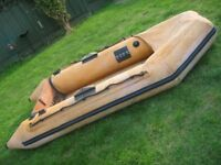 INFLATABLE DINGHY REQUIRING ATTENTION
