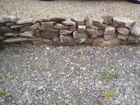 Drystone wall stones.
