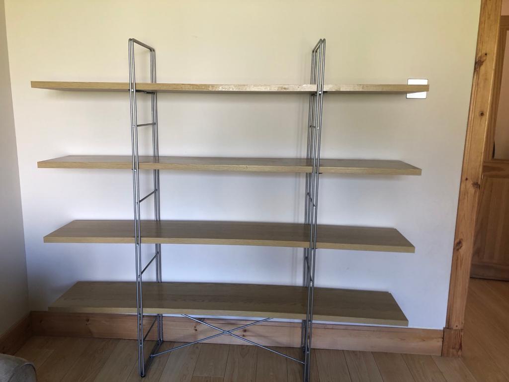 Ikea Enetri Oak Shelving Unit Plus Lack Table