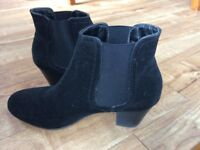 Black John Lewis suede-effect ankle boots £12