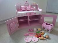 Wooden kitchen and picnic set