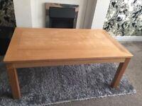 Oak coffee table large