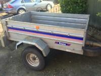 "5ft x 3ft 6"" Franc Tipping Trailer + spare Wheel"
