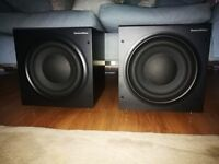 B&W ASW610XP Subwoofer in black ash - excellent condition - serious bass!