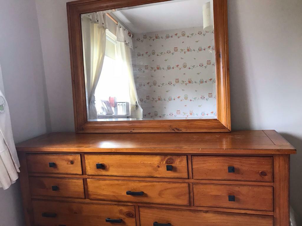 Solid Wood Dresser With Detachable Mirror In Bridgend Gumtree