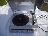 OLD RECORD PLAYER WITH RADIO..FOR REPAIR.