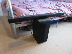 LG 2.1 Ch 300W Soundbar with Wireless Subwoofer (LAS455H) in perfect condition!