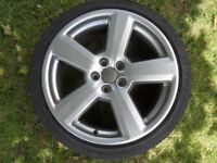 "Audi 18"" Wheel recently refurbished, RS4 Style ronal"