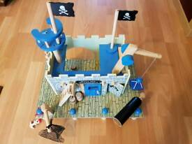 Wooden pirate fort