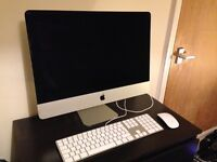 Apple iMac 21.5 inch screen- late 2012 model with keyboard, mouse and box