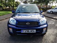 2001..TOYOTA RAV4 NRG VVTI A/C 2.0e..NEW FULL MOT..LOW MILAGE 93K..FULL SERVICR+NEW OIL..4x4..VGC.