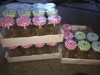 31 x Mason Jars with lids - never used.