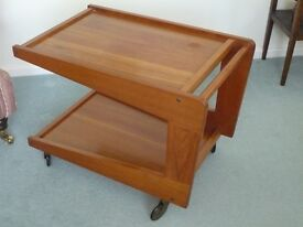 Trolley Solid wood Teak 1970's vintage trolley Excellent condition