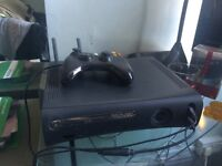 XBOX 360 (Wireless adapter, Controller and Ten games)