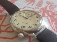 Large vintage Molnija USSR Russian mens wrist watch (pocket watch conversion?) REDUCED AGAIN!!!!