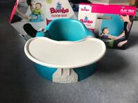 **SOLD**Aqua Bumbo seat with play tray table
