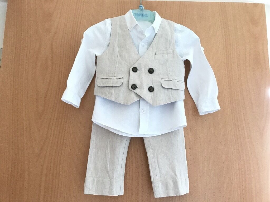 Baby 3 piece suit, 12-18 months, ideal for Wedding or Christening