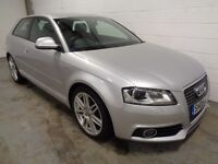 AUDI A3 S-LINE , 2009 REG , ONLY 60000 MILES + HISTORY , YEARS MOT , FINANCE AVAILABLE , WARRANTY