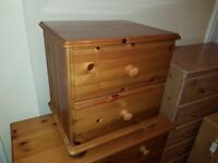 Immaculate Solid wood Bedsit and Chest of drawers