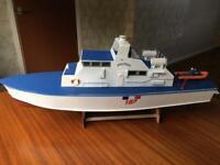 RC Model Boat, Controller & Batteries