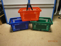 New Moulded Plastic Shopping Basket - 22Litre - Available in Red, Green, Blue