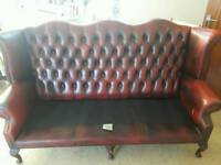 Chesterfield ox blood sofa