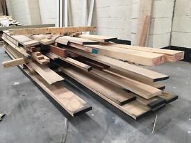 Job Lot - Mixed Hardwood Offcuts- Mainly American Oak and Ash
