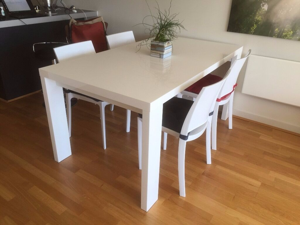 HABITAT Set Of 4 VERNE Chairs And ASPER Dining Table