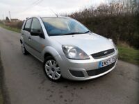 49,000 MILE 2007 FORD FIESTA 1.25 SILVER 5 DOOR MK6 STYLE CLIMATE