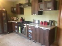 Complete Walnut effect Kitchen for sale