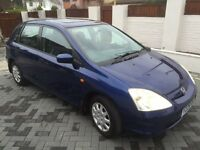 HONDA CIVICSE 1.4 PETROL **12 MONTH MOT** FSH WITH 12 STAMPS, N/CAMBELT, 2 KEYS AND FOBS EX/CON £795
