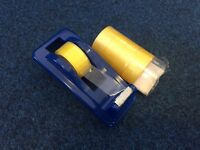 Heavy Weight Tape Dispenser + 5 sellotapes_£3 for ALL