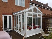 conservatory Double Glazed - glass roof - double french doors