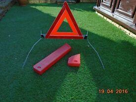 Roadside warning triangle